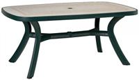 Стол TOSCANA 165 (зеленый, мозаика Ravenna)